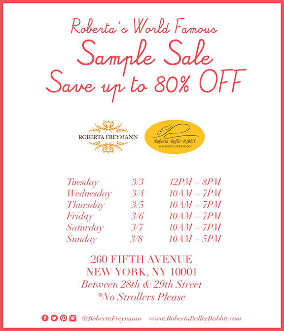 Roberta Freymann and Roberta Roller Rabbit Sample Sale- NYC - Posh ...