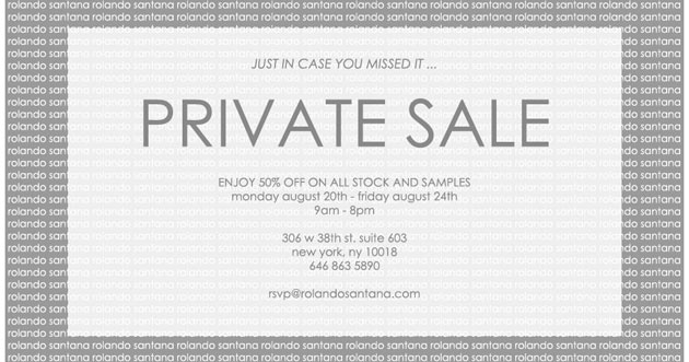 Rolando Santana Private Sale