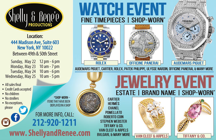 Rolex, Cartier, Van Cleef and More Watch & Jewelry Sale
