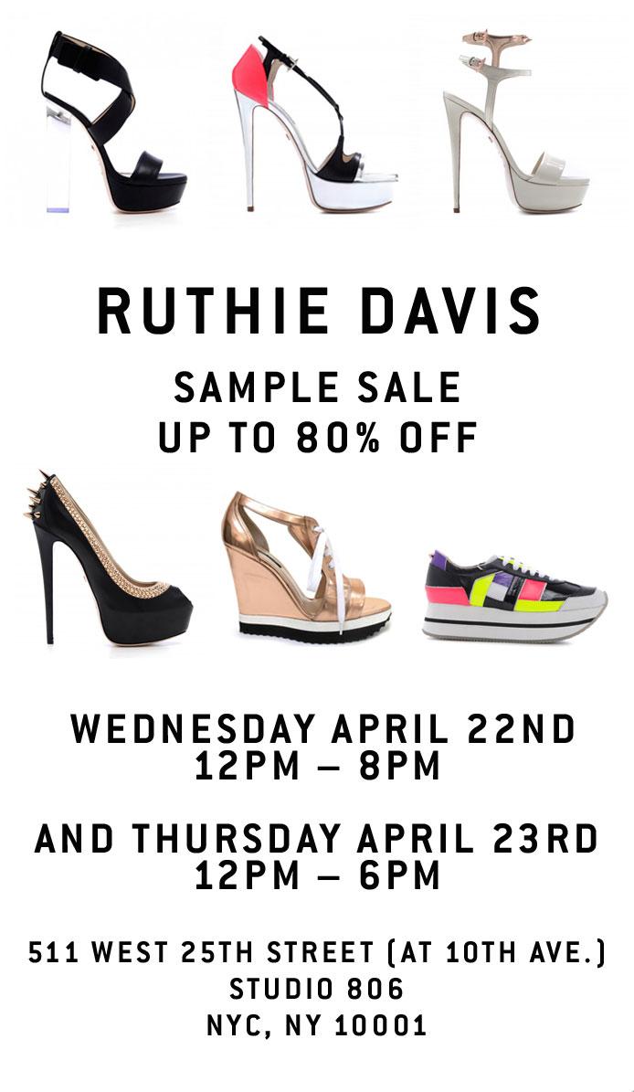 Ruthie Davis Sample Sale