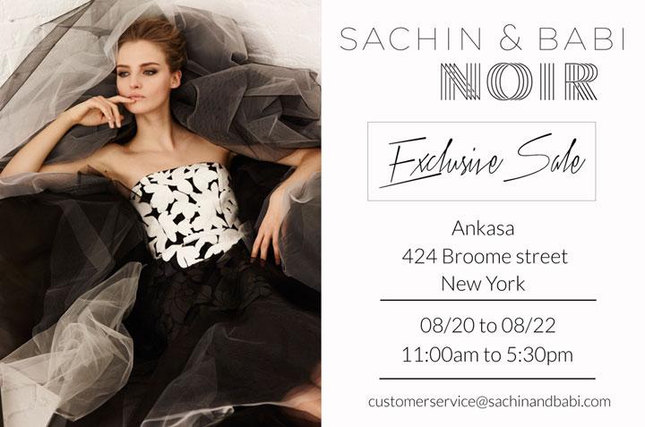 Sachin + Babi Noir Sample Sale