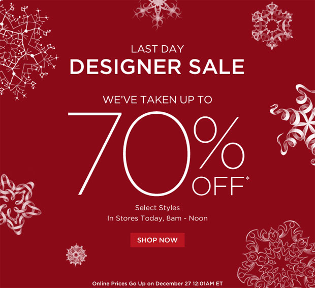 Saks Clothing & Accessories New York After-Christmas Sale ...