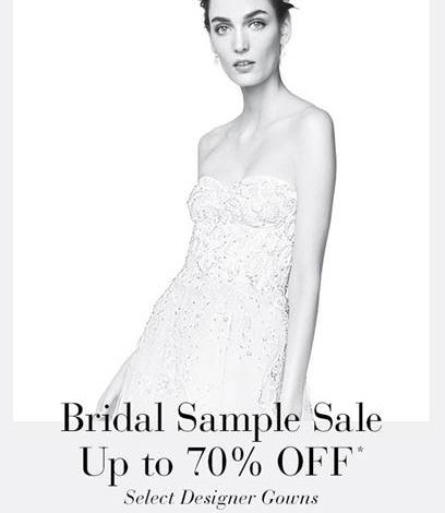 Saks Fifth Avenue Bridal Sample Sale