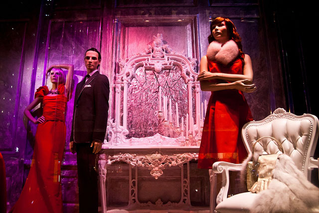 Mad Men theme at Saks Fifth Avenue Window Decoration