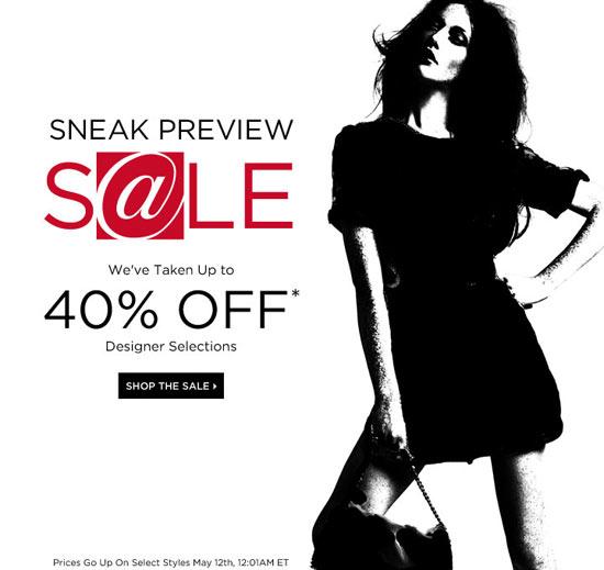 Saks Fifth Avenue Sneak Preview Sale