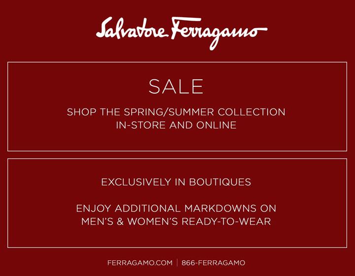 Salvatore Ferragamo Spring/Summer 2015 Retail Sale