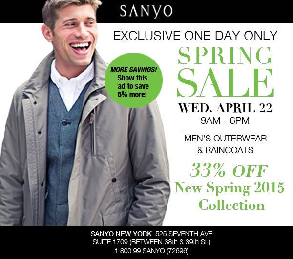 Sanyo Sample Sale