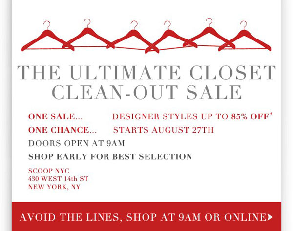 Scoop NYC Ultimate Closet Clean-Out Sale