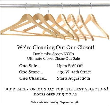 Scoop NYC Closet Clean-Out Sale