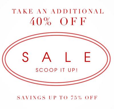 Scoop NYC Summer Reatil Sale