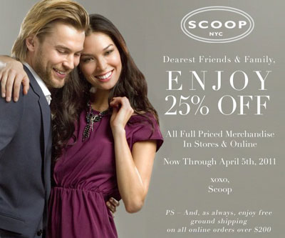 Scoop Spring Friends & Family Sale
