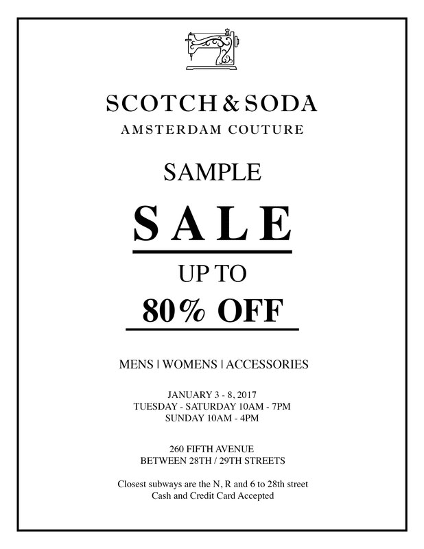 Scotch & Soda Sample Sale