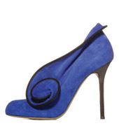 Sergio Rossi dusk suede pump with blossom detail