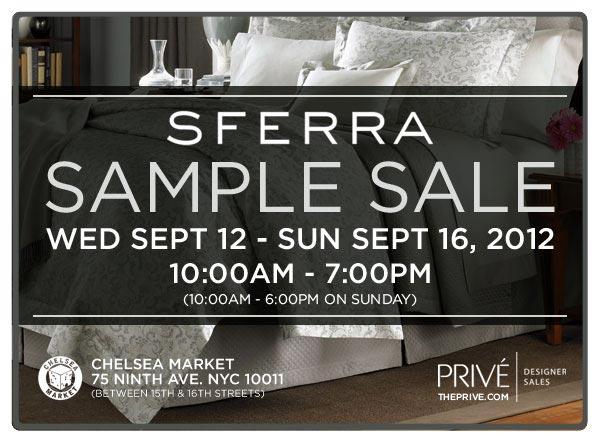 SFERRA Sample Sale