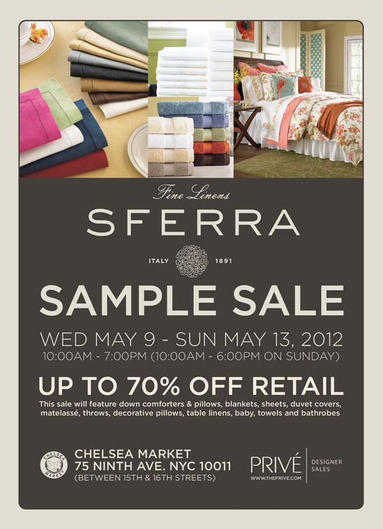 Sferra Sample Sale