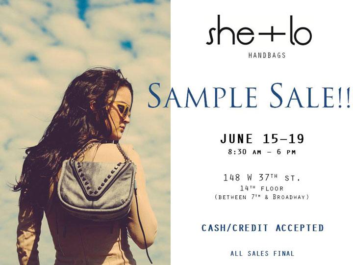she + lo Sample Sale