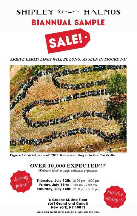 Shipley & Halmos Sample Sale