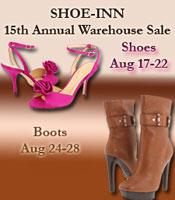 Shoe-Inn 15th Annual Warehouse Sale
