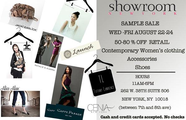 Showroom New York Sample Sale