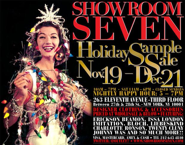 Showroom Seven Holday Sample Sale