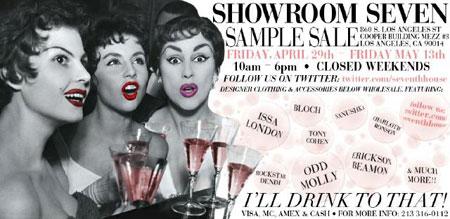 Showroom Seven Sample Sale