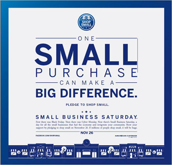 Small Business Saturday: 11/26