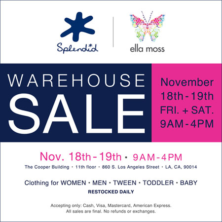 Splendid / Ella Moss Holiday Warehouse Sale