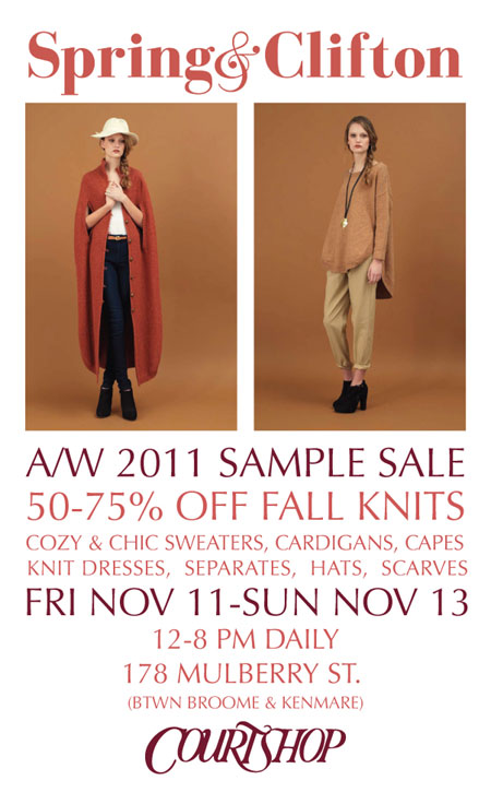 Spring & Clifton Sample Sale