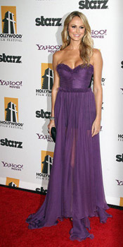 Stacy Keibler wearing Maria Lucia Hohan at Hollywood Film Awards Gala