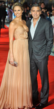 Stacy Keibler wearing Maria Lucia Hohan at at The Descendants premiere