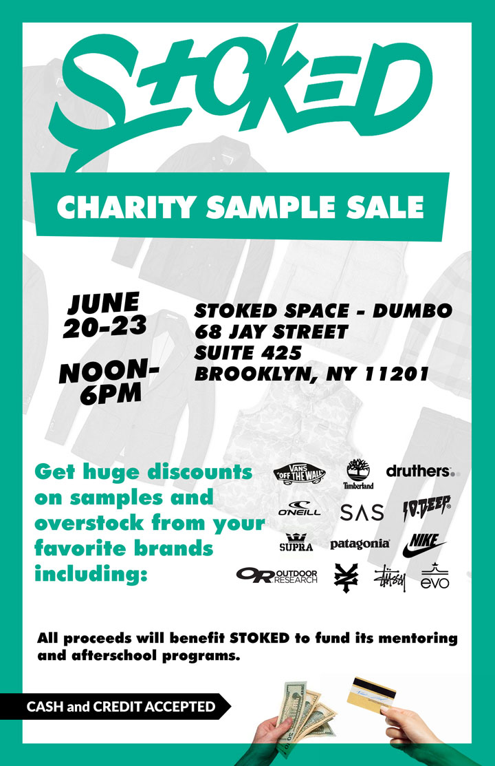 Stoked Clothing & Accessories New York Charity Sample Sale ...