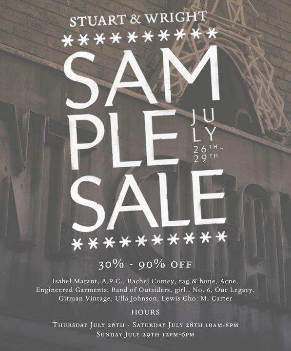Stuart & Wright Sample Sale