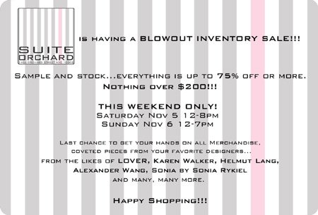 Suite Orchard Inventory Blowout Sale