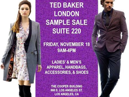 0947756559b1 Los Angeles Sample Sales - Ted Baker London Sample Sale