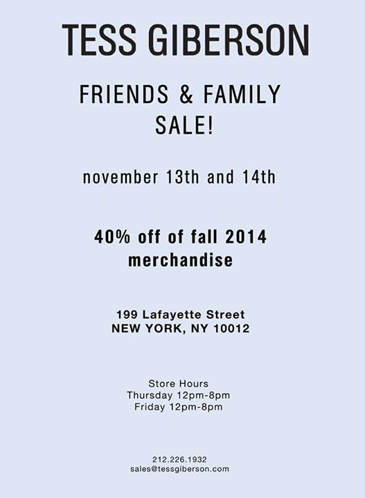 Tess Giberson Friends & Family Sale