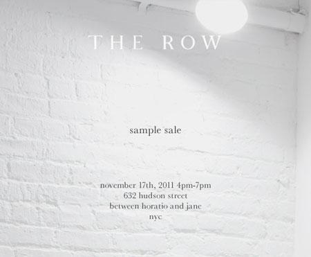 The Row Sample Sale