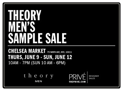 Theory Men's Sample Sale