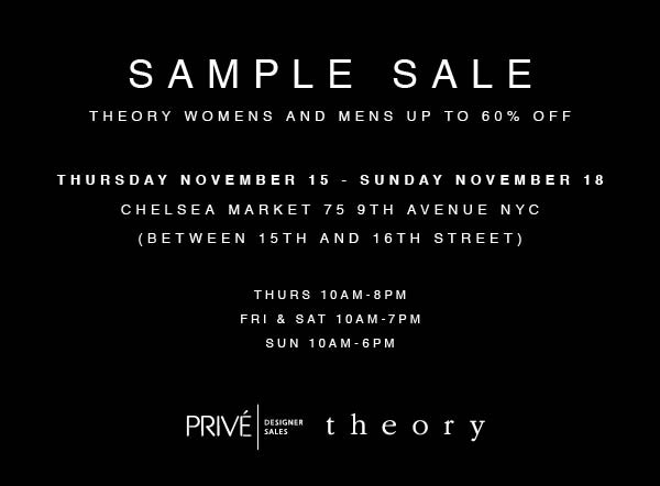 Theory Sample Sale