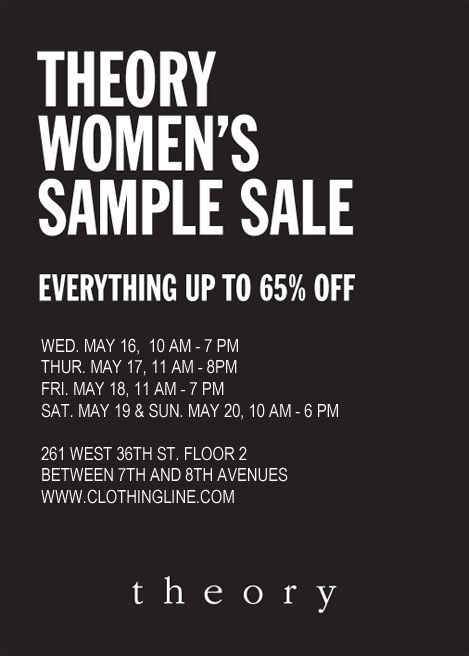 Theory Women's Sample Sale