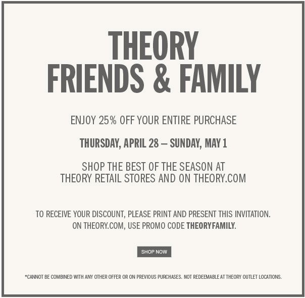 Theory Friends and Family Sale