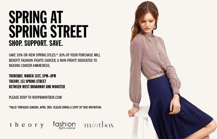 10% off new spring styles at Theory
