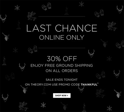 Theory Cyber Monday Online Sale