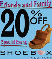The Shoebox NYC Friends and Family Sale