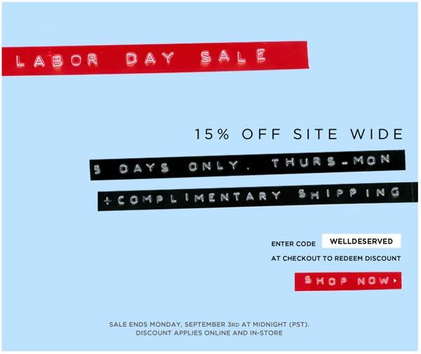 Tibi Labor Day Weekend Online Sale