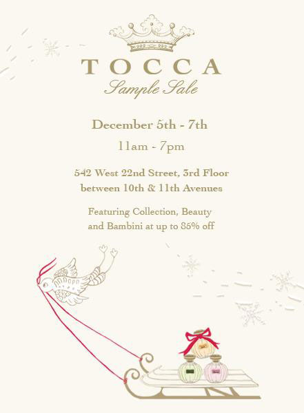 Tocca Sample Sale