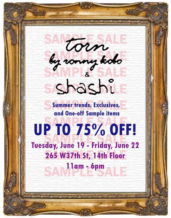 Torn by Ronny Kobo & Shashi Sample Sale