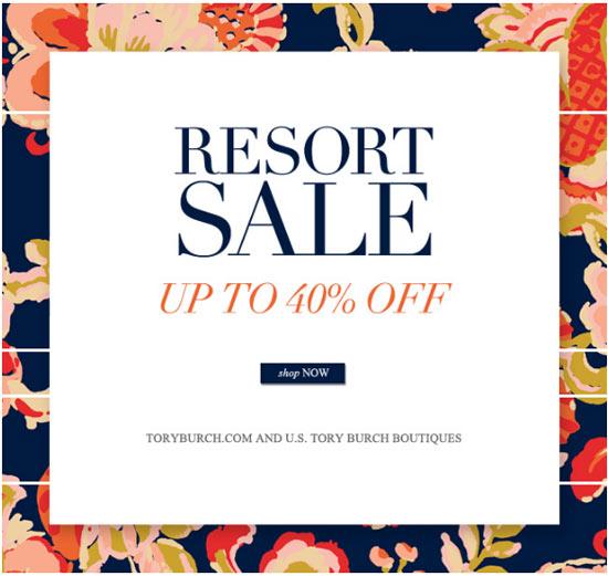 Tory Burch Resort Sale
