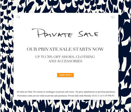 Tory Burch Private Online Sale