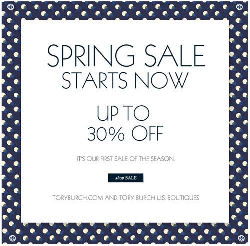 Tory Burch Spring Retail Sale