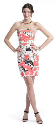 Tracy Reese Coral Floral Sheath Dress ($95)